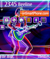 Guitar Player QVGA theme screenshot