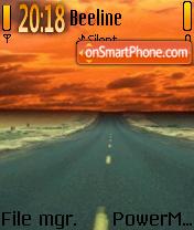 Road Sunset es el tema de pantalla