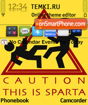 Caution This is Sparta es el tema de pantalla