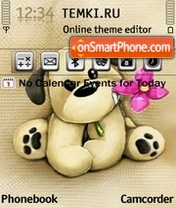 Dog with Flower theme screenshot