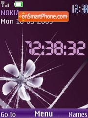 SWF abstract clock anim theme screenshot