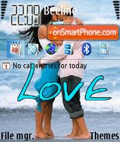 Love In Rain theme screenshot