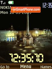 SWF clock night Kiev anim theme screenshot