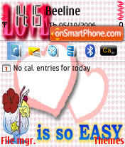 Love Is So Easy theme screenshot