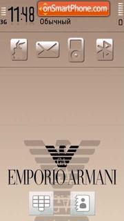 Emporio Armani es el tema de pantalla