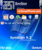 Symbian-9.2-win theme screenshot