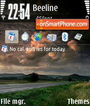 Скриншот темы Rainy Road