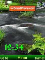 Swf creek animated theme screenshot