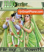 Lord Krishna theme screenshot