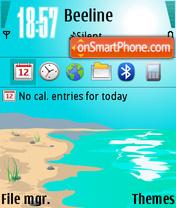 Sunshine Island theme screenshot