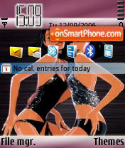Disco Gurls theme screenshot