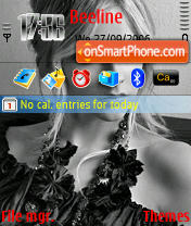 Avril Black and White theme screenshot