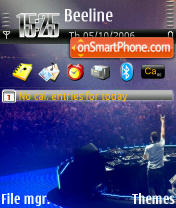 DJ Tiesto 3 theme screenshot