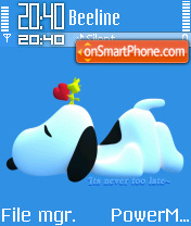 Snoopy 4 Lind theme screenshot