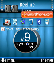 Life Symbian 9.1 theme screenshot