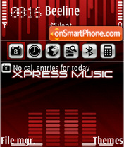 Xpress Music Style FP2 theme screenshot