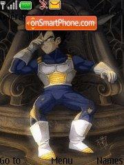 Prince Vegeta tema screenshot