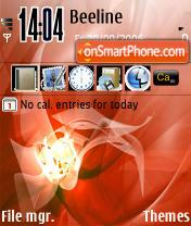 Mac Flower theme screenshot