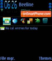 Black fp1 theme screenshot