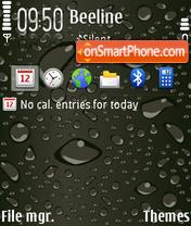 Raindrop FP2 tema screenshot
