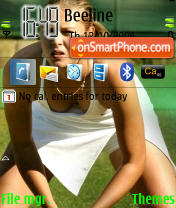 Sexy Maria Sharapova theme screenshot