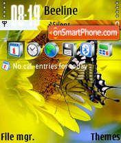 Butterfly Summer theme screenshot