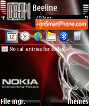 Red Nokia 02 theme screenshot