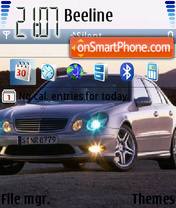 E 55 AMG theme screenshot