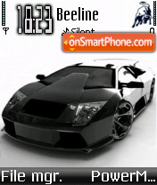 Lamborghini Grey theme screenshot