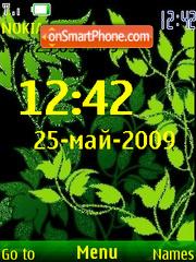 Swf green animated Fl2.0 theme screenshot