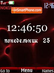 Swf clock red animated theme screenshot