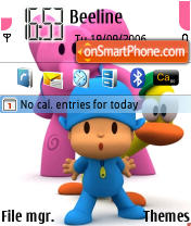 Pocoyo theme screenshot