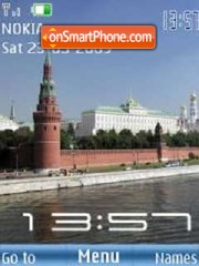 SWF clock Moscow tema screenshot