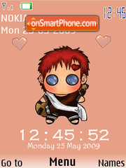 SWF Baby Gaara theme screenshot