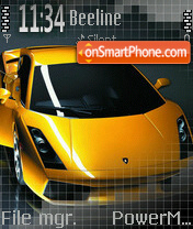 Yellow Lamborghini theme screenshot