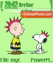 Snoopy 5 Lind theme screenshot