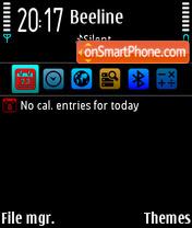 Black & Aqua eric icon theme screenshot
