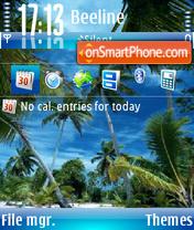 Capture d'écran Paradise 04 thème