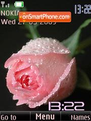 SWF clock pink rose anim theme screenshot