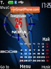 Analog Calendar RU theme screenshot