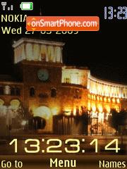 SWF clock night Yerevan anim theme screenshot