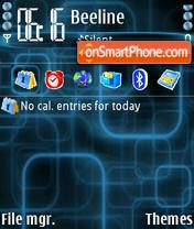 Blue Nokiaf theme screenshot