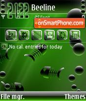 Capture d'écran Red Aquari thème