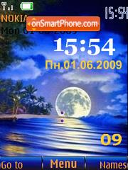 Swf night beach animated theme screenshot