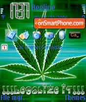 Marijuana theme screenshot