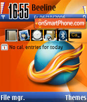 Mozilla Firefox theme screenshot