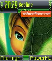 Shy Tinker Bell theme screenshot