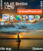 Sunset 05 theme screenshot