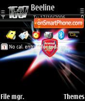 Arsenal FC theme screenshot