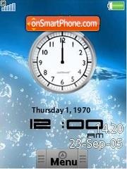 Скриншот темы HTC Android Clock SWF v2